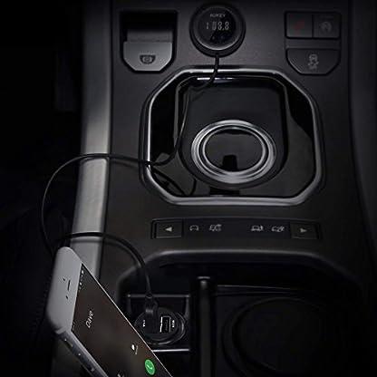 AUKEY-Bluetooth-FM-Transmitter-mit-LED-Display-integriertem-Mikrofon-und-2-Port-USB-Kfz-Ladegert-fr-Musik-Spielen-und-Hnde-frei-Telefonieren
