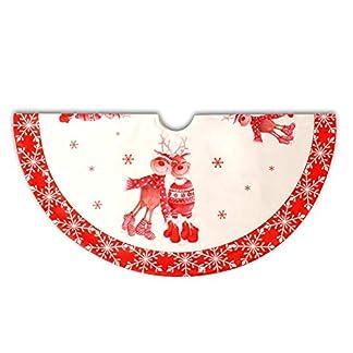 Whiie891203-Weihnachtsdeko120cm-runderTeppich-Baumrock-Weihnachtsbaum-Decke-Deko-Christbaumstnder-Boden-Dekorationen-Ornamente