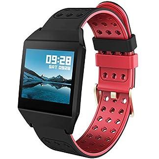 Fitness-Armband-Uhr-Farbbildschirm-Pulsmesser-Schrittzhler-Blutdruckmessung-Schlafberwachung-Anruf-SMS-Aktivittstracker-Smartwatch
