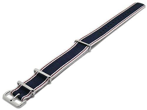 Meyhofer-Uhrenarmband-Wyoming-20mm-dunkelblau-Textil-Seitenkanten-wei-Streifen-rot-Durchzugsband-MyPtkkb600120mmdblau-weiss
