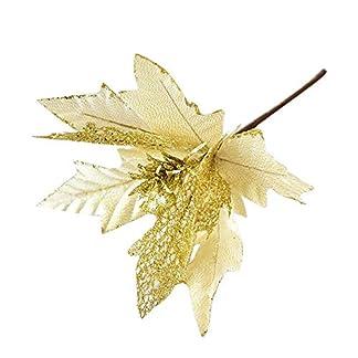 Deep-lovly-Weihnachten-Dekoration-25-cm-Glitzer-Weihnachtsblume-Kunstblume-Zubehr-Herrliches-Bemalen-und-Verzieren-Hausdeko-Weihnachtsfeier-Dekorieren-Weihnachtsschmuck