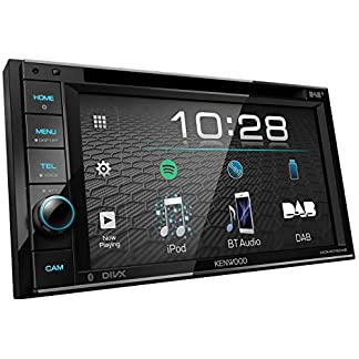 Kenwood-DDX4019DAB-DAB-Multimedia-Autoradio-mit-157-cm-Touchscreen-2-DIN-DVD-Bluetooth-Freisprecheinrichtung-Soundprozessor-USB-Spotify-Control-Schwarz
