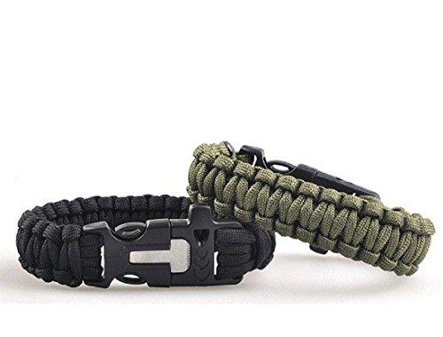 Paracord Survival Armband mit Verstellbarer Edelstahlschnalle Fallschirm-Schnur-Armband Unisesx Multifunktions-Rettungsgerät für Outdoor-Camping, Wandern von TheBigThumb, Lila