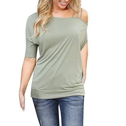 JYJM-2019-Frauen-Solide-T-Shirt-Asymmetrischer-Ausschnitt-T-Shirt-Kalter-Schultergurt-Damen-Langarmshirt-Farbblock-Langarm-Kurzarm-T-Shirt-Casual-Rundhals-Tunika-Tops-Tops-Kurzarm-T-Shirt-Tops
