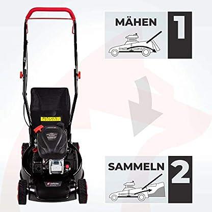 Rotfuchs-Benzin-Rasenmher-2in1-Funktion-GT-Markengetriebe-99ccm-max-22kW3PS-41cm-Schnittbreite-40L-Grasfangkorb