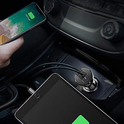 UGREEN-36W-Auto-Ladegert-Dual-Quick-Charge-30-Port-USB-KFZ-Ladegert-Auto-Ladeadapter-fr-Samsung-S10-S9-S8-A7-Note8-iPhone-X-XS-XS-Max-XR-8plus-Huawei-P20-lite-MP3Navi-usw