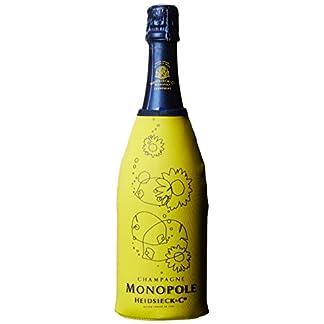 Monopole-Heidsieck-Blue-Top-Brut-Champagner-MIFLORA-Blumenstrau-20-Rote-Rosen-Gratis-Grukarte-inklusive