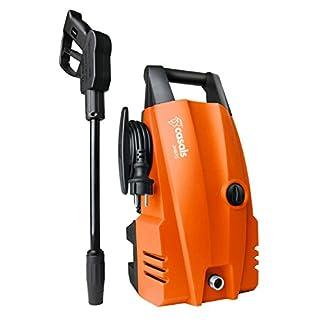 Casals-C63009000-Hochdruckreiniger-1400-W-105-bar-Maximaldruck-Durchflussmenge-300-lh-bis-375-lh-Integrierter-Waschmittelbehlter-Anschluss-an-den-Wasserkreislauf-orange