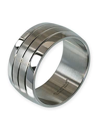 Fly Style Bandring Edelstahl Ring für Damen Herren | 12 mm breit