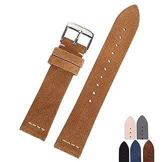 Auspiciousi-Uhrenarmband-aus-Wildleder-Beige-Hellbraun-Dunkelbraun-Beige-Grn-Schwarz-Grau-Uhrenarmbnder