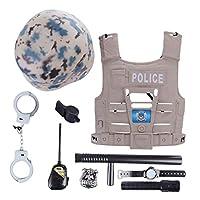 Haunen-8-Stcke-Polizei-Kostm-Kinder-Polizei-Einsatzkommando-Set-fr-Kinder-Kinderkostm-Polizei-3-Jahre-alt-oder-lter