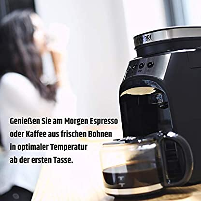Razorri-RCGE600A-Filterkaffeemaschine-mit-Mahlwerk-Vollautomatik-Kaffeemaschine-mit-Warmhalteplatte-Tropf-Stopp-Funktion-560ml-Glaskanne-bis-4-Tassen-175-x-280-x-250mm-600-W-60Hz