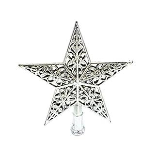 Tinksky-Weihnachtsbaumspitze-Stern-Baumschmuck-Glitzernde-Silber