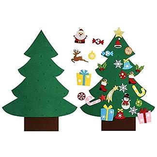 Asommet-3Ft-DIY-Filz-Weihnachtsbaum-Set-mit-28-Stck-Abnehmbare-Ornamente-Wanddekor-fr-Kinder-Hause-Tr-Dekoration