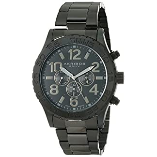 Akribos-XXIV-Herren-Omni-Analog-Display-Swiss-Quartz-Armbanduhr-mit-Edelstahl-Armband