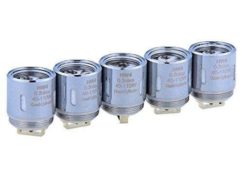 HW4 Verdampferköpfe mit 0,3 Ohm – für Ello / Ello Mini / Ello Mini XL Verdampfer – von SC – 5 Stück pro Packung