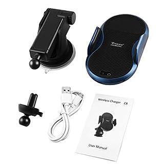 C8-Auto-Infrarot-Sensor-Wireless-Car-Phone-Ladegert-Teleskopgriff-Schnelllade-Pad-Universal-Qi-Standard-Kfz-Ladegert