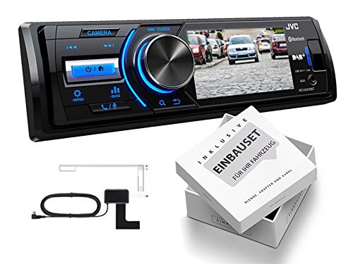 JVC-KD-X561DBT-1-DIN-DAB-Media-Receiver-Farbdisplay-inklusive-Kamera-fr-Peugeot-Expert-Partner-ab-2007-schwarz