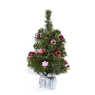 Heitmann-Deco-dekorierter-Weihnachtsbaum-kleiner-knstlicher-Tannenbaum-inkl-Schmuck-rosa-pink-silber-Kunststoffbaum