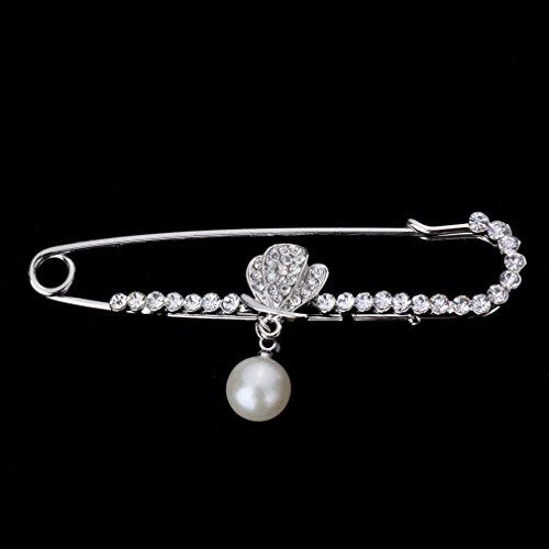 YAZILIND Schmuck Weibliche Schmetterling Brosche Silber Mit Unecht Perle