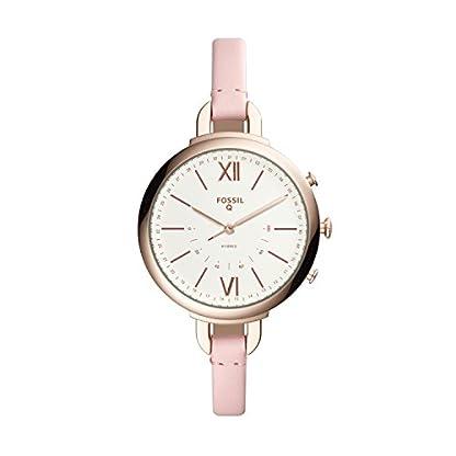 Fossil-Damen-Analog-Quarz-Uhr-mit-Leder-Armband-FTW5023