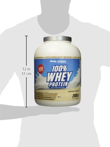 Body Attack 100% Whey Protein, Cookies und Cream, 1er Pack (1 x 2,3 kg)