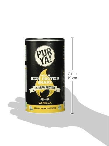 Purya Bio Vegan High-Protein Shake Vanilla, 1er Pack (1 x 550 g)