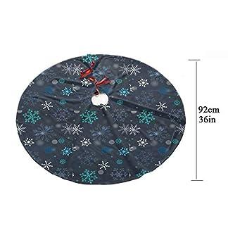 Z-KOKO-Weihnachtsbaum-RockGedrucktes-Design-36-Zoll-Neueste-Gute-Elastizitt-Baum-Rock-fr