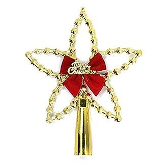 Fnfspitzer-Stern-Christbaumspitze-Christbaumspitze-Dekoration-Ornament-Baumspitze-Deko-Glnzend-Festival-Deko-Weihnachtsbaum-Topper