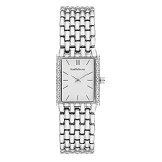 Jean-Bellecour–reds24-Damen-Armbanduhr-045J699-Analog-wei-Armband-Stahl-versilbert