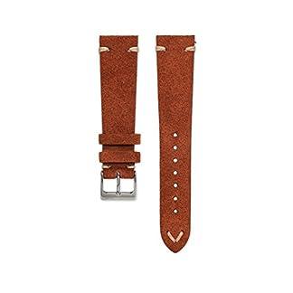 WatchBandit-Wildleder-Uhrarmband-Vintage-Rostbraun-WB-Original-18-22-mm