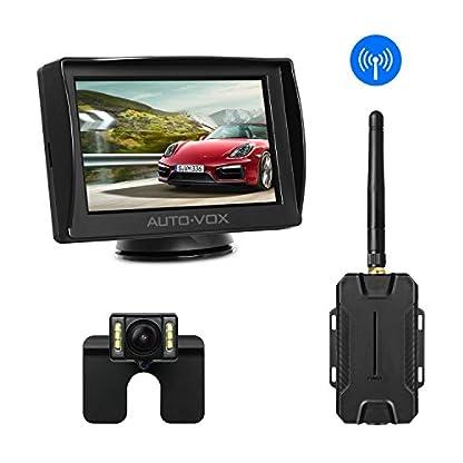AUTO-VOX-M1-Rckfahrkamera-mit-Monitor-IP68-Wasserdichte-AutoKamera-fr-Einparkhilfe-Rckfahrhilfe-mit-Stabiler-Signalbertragung-43-TFT-LCD-Rckansicht-Bildschirm