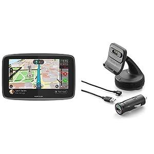 TomTom-GO-6200-Pkw-Navi-6-Zoll-mit-Freisprechen-Siri-und-Google-Now-Updates-ber-Wi-Fi-Lebenslang-Traffic-via-SIM-Karte-und-Weltkarten-TomTom-Aktiv-Magnethalterung-und-Ladegert