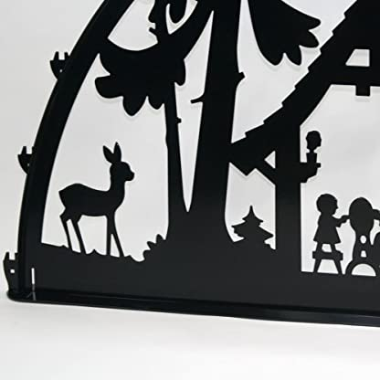 Schwibbogen-Lichterbogen-Metall-Motiv-Waldhaus-XXXL-2-Meter-Breite-Auen-Bereich-schwarz-glnzend-riesen-gro-Erzgebirge-Weihnachten-Kinder