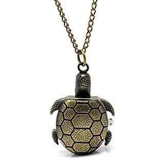 Souarts-Bronzefarbe-Schildkrte-Antik-Nostalgie-Design-Taschenuhr-Klassische-Vintage-Mode-Umhngeuhr-Kettenuhr