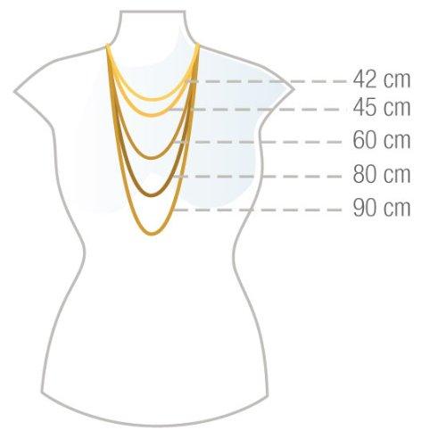ZEEme Basic Fußkette 25cm lange Figarokette mit Herz 299200020