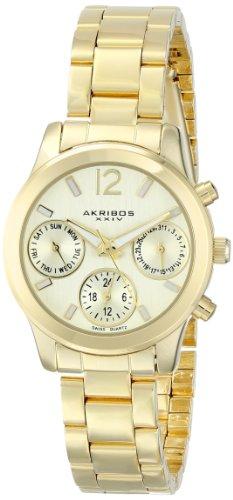 Akribos-XXIV-Damen-Armbanduhr-Ador-mit-Schweizer-Quarzuhrwerk-und-vielen-Funktionen