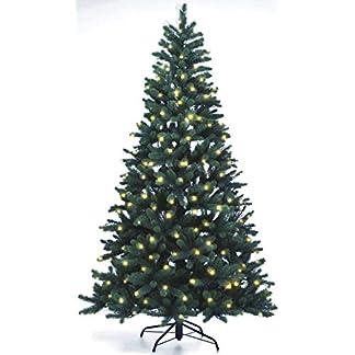 Lnartz-Naturgetreuer-knstlicher-Weihnachtsbaum-PE-Spritzguss-mit-Beleuchtung-312-LEDs-14W-Hhe-210cm-140cm-PE-BM210