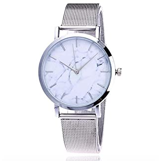 Frauen-UhrenKingwo-Mdchen-Armbanduhr-Casual-Quartz-Edelstahl-Band-Marmor-Armbanduhr-Analog-Armbanduhr