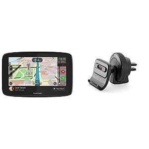 TomTom-GO-620-Pkw-Navi-6-Zoll-mit-Freisprechen-Lebenslang-Traffic-via-Smartphone-und-Weltkarten-Smartphone-Benachrichtigungen-Aktiv-Lftungsschlitzhalterung