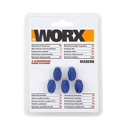 Worx-5-x-Kabelverbinder-fr-Landroid-Mhroboter-WA0198-Blau