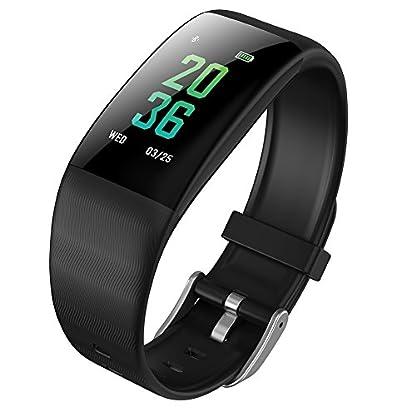 Uhruolo-Smartwatch-Fitness-Armband-mit-Pulsmesser-Bluetooth-Schrittzhler-Aktivitts-Tracker-Fitness-Tracke-Fr-Damen-Herren-Kinder