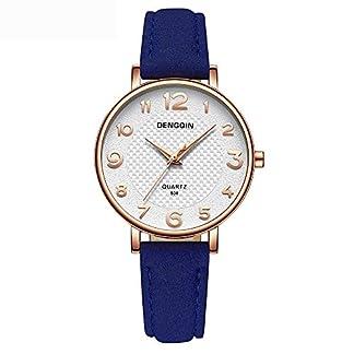 Hffan-Damen-Einfach-Retro-Uhr-mit-Lederband-Quarzuhr-Frauen-Freizeituhr-Runde-Tabelle-Plaid-Handschmuck-Armband-Uhren-Damenuhr