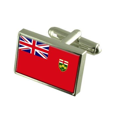 Ontario Landesflagge Manschettenknöpfe mit Tasche Geschenke auswählen