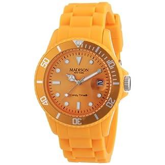Pastell-Orange-Madison-New-York-Candy-Time-Unisex-ArmbanduhrOrange