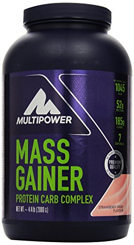Multipower Mass Gainer, Strawberry Splash, 2 kg