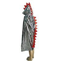 BESTOYARD-Kinder-Kinder-Dinosaurier-Design-Kapuzen-Kostm-Umhnge-Halloween-Leistung-Kleidung-Mantel-Kostm-Festival-Party-Favor-115-cm-Silber