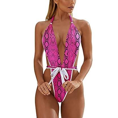 LILIHOT-Damen-Print-Siamese-Bandage-Badeanzug-Pulled-Bikini-Damen-mit-V-Form-Ausschnitt-Bauchweg-Rckenfrei-Push-up-Elegant-Grace-Schwimmanzug-Einteiler-Schlankheits-Raffung-High-Neck-Bademode