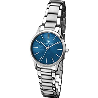 Accurist-Damen-Analog-Quarz-Uhr-mit-Edelstahl-Armband-8100