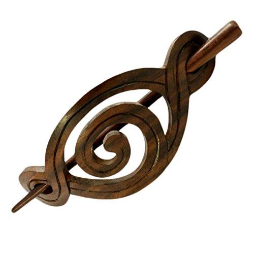 ISLAND PIERCINGS Haarspange Clip klassisches Design Handarbeit aus Holz HS45